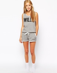 Jack Wills Loop Back Marl Short Charcoalspeckledma