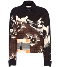 Victoria Beckham Patch Printed Bomber Jacket Multicoloured
