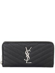 Saint Laurent Quilted Leather Zip Around Wallet
