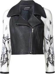Yigal Azrouel Berry Branches Leather Jacket Black