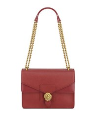 Anne Klein Diana Large Double Flap Chain Bag Ruby
