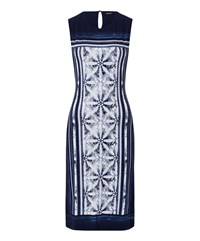 Olsen Sleeveless Printed Dress Denim