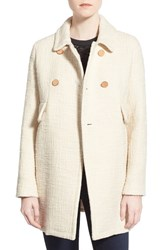 Women's Paul And Joe Sister 'Estrello' Double Breasted Tweed Coat Ecru