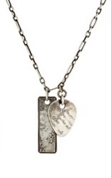 Werkstatt Munchen Men's Pick And Dog Tag Pendant Necklace Silver