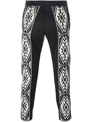 Ports 1961 'Ethnic Embroidery' Trousers Black