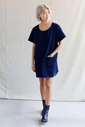 Urban Renewal Recycled Patch Pocket Denim Dress Blue
