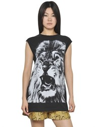 Stella Mccartney Sleeveless Cotton Jersey Lion T Shirt