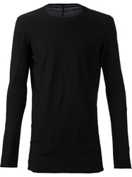 Devoa Longsleeved Fitted T Shirt Black