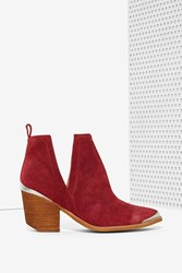 Nasty Gal Cromwell Suede Bootie Wine