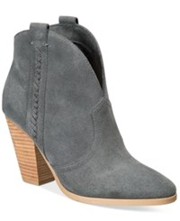 Report Doman Western Ankle Booties Women's Shoes Grey