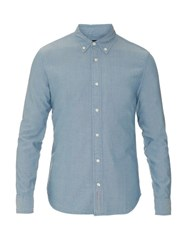 Jean Shop Slim Fit Cotton Shirt Mid Blue
