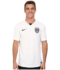 Nike Usa S S Home Stadium Jersey Football White Black Black Men's Short Sleeve Pullover