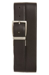 Canali Men's Calfskin Leather Reversible Belt Brown