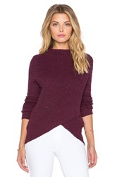 Free People Boho Wrap Sweater Purple