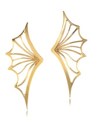 Bernard Delettrez Bronze Bat Wing Earrings