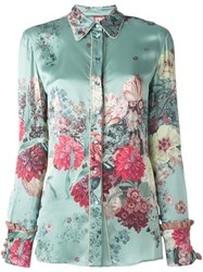 Antonio Marras Floral Print Shirt Blue