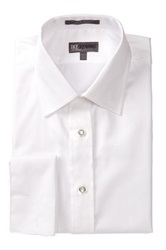 Ike Behar 80S Cotton Twill Tux Dress Shirt White