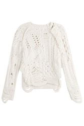 Zadig And Voltaire Wool Pullover With Cut Out Detail White