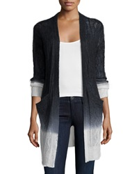 Banjo And Matilda Long Sleeve Ombre Cardigan Black Ivory