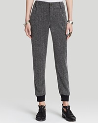 Free People Pants Constructed Knit Jogger Black Combo
