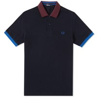 Fred Perry Colour Block Polo Blue