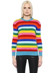 Saint Laurent Striped Rainbow Wool Knit Jumper