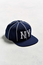 American Needle Big Show Ny Yankees Striped Baseball Hat Navy