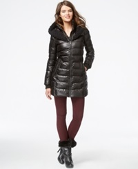 Rachel Rachel Roy Knit Trim Hooded Puffer Coat Black