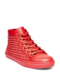 Steve Madden Levels High Top Sneakers Red
