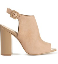 Aldo Juliusa Leather Heeled Sandals Natural