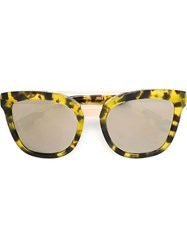 Dolce And Gabbana Oval Frame Sunglasses Green