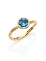 Marco Bicego Jaipur Blue Topaz And 18K Yellow Gold Ring Gold Blue