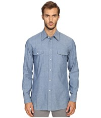 Marc Jacobs Slim Fit Chambray Button Up Blue
