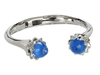 Stephen Webster Superstud Cuff Bracelet Sterling Silver Blue Agate Crystal Bracelet