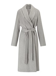 Miss Selfridge Grey Longline Robe Coat