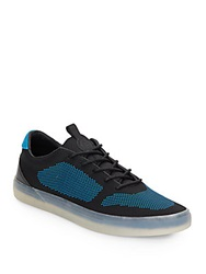 French Connection Carlin Knit Sneakers Black Blue