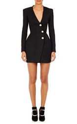 Balmain Women's Snap Front Hourglass Dress Black