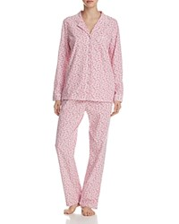 Eileen West Long Sleeve Knit Pajama Set White Ruby Multi