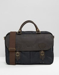Barbour Wax Briefcase In Navy Navy