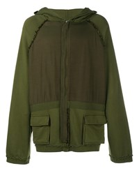 Haider Ackermann Oversized Perth Khaki Hoodie Khaki Earth Black