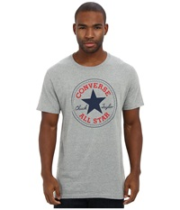 Converse Core Chuck Tee Vintage Grey Heather Men's T Shirt Gray