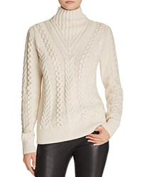 French Connection Cable Knit Sweater Classic Cream