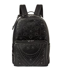 Valentino Crystal Embellished Studded Backpack Unisex Black