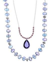 Lonna And Lilly Silver Tone Blue Bead 2 In 1 Necklace No Color