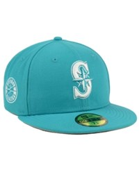 New Era Seattle Mariners C Dub Patch 59Fifty Cap Teal