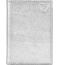 Aspinal Of London Double Fold Credit Card Case Silver