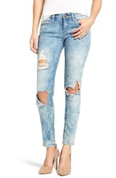 Blank Nyc Women's Blanknyc 'Good Vibes' Distressed Skinny Jeans
