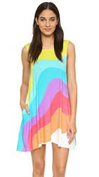 Mara Hoffman Auralight Low Back Swing Dress White Multi
