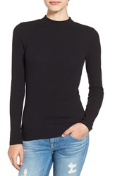 Women's Bp. Rib Knit Mock Neck Tee