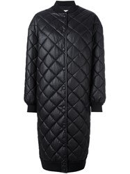 Stella Mccartney Quilted Long Coat Black